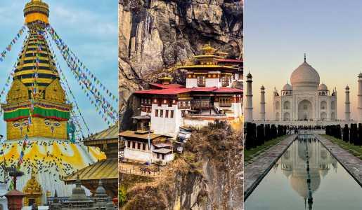 Nepal Bhutan India
