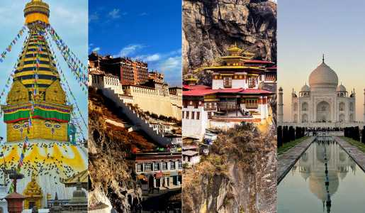 Nepal Bhutan Tibet India